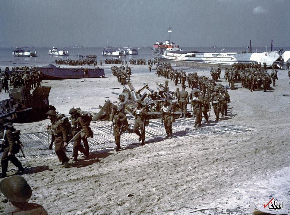 تصاویر رنگی از نبرد نرماندی پس از 70 سال